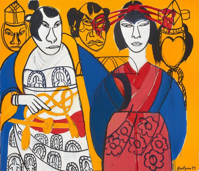 , 'Kabuki Warrior and Concubine,' 1999, ACA Galleries