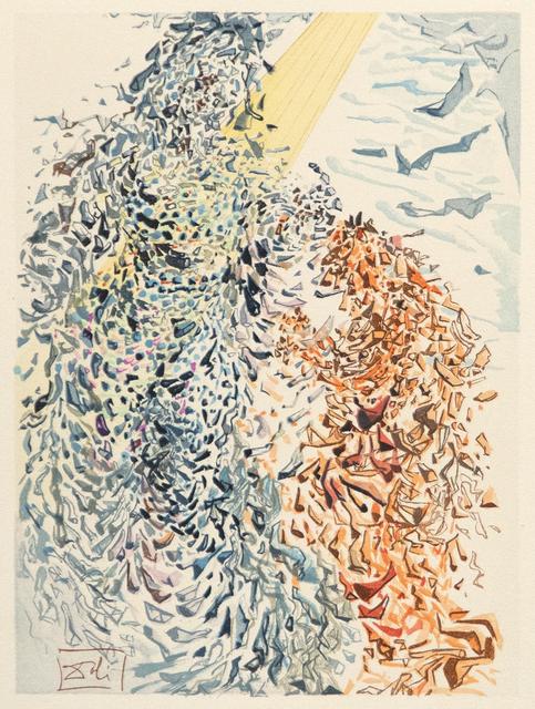 Salvador Dalí, 'Wie sich der bunte Doppelbogen biegt Durch zart Gewolk, gleichfarbig, gleichgeschwungen, Wann Juno's Botin durch die Lufte fliegt', 1974, Heather James Gallery Auction