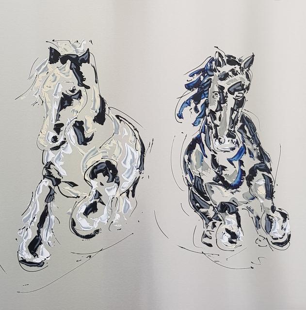 Paul La Poutré, 'Horses at gallop', 2019, Gallery ART & LEF