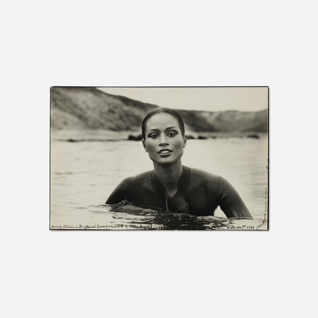 Peter Beard, 'Beverly Johnson', 1973, Photography, Gelatin silver print with ink, Rago/Wright