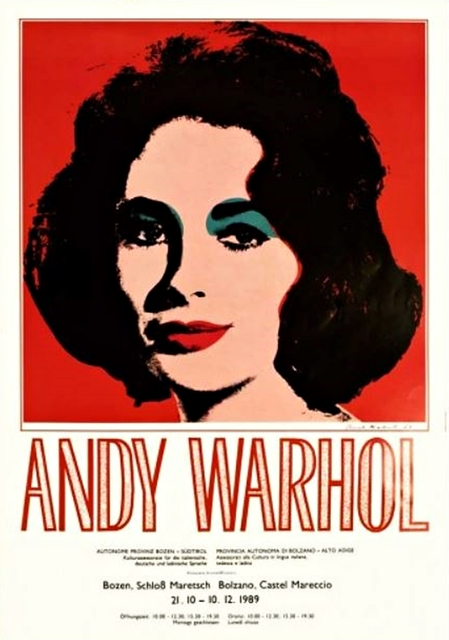 Andy Warhol, 'Elizabeth Taylor ', 1989, Posters, Offset Lithograph on Linen Paper., Alpha 137 Gallery