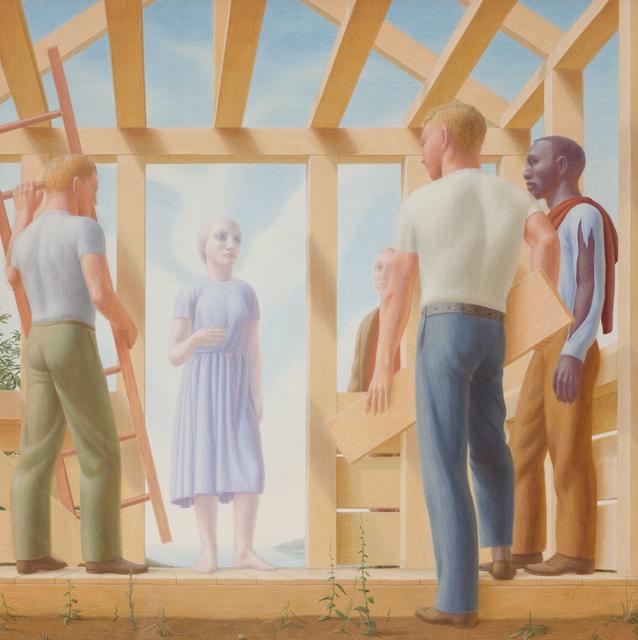 George Tooker, 'Builders', 1952, DC Moore Gallery
