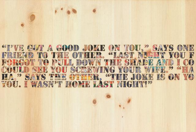 Richard Prince, 'Joke on You', 2008, Mixed Media, Mixed media on wood panel, Two Palms