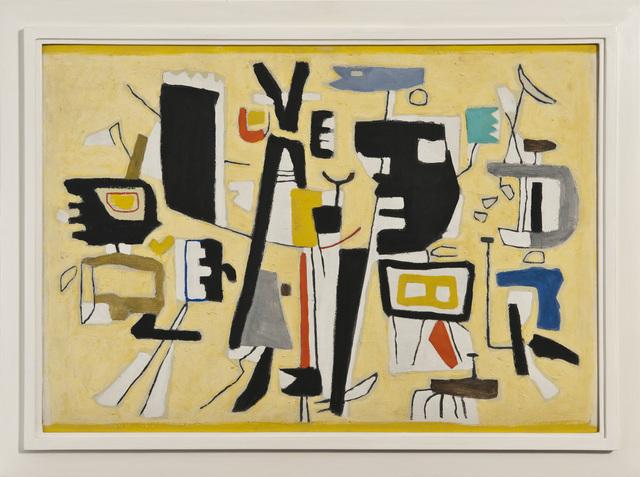 , 'Figuren auf Gelb,' 1951, Galerie Klaus Gerrit Friese