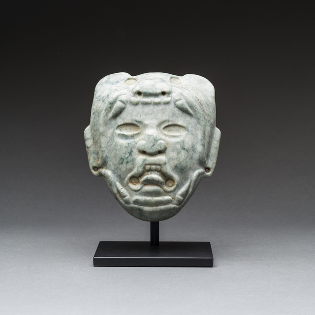 Unknown Pre-Columbian, 'Olmec Mask', 900 BC to 500 BC, Barakat Gallery