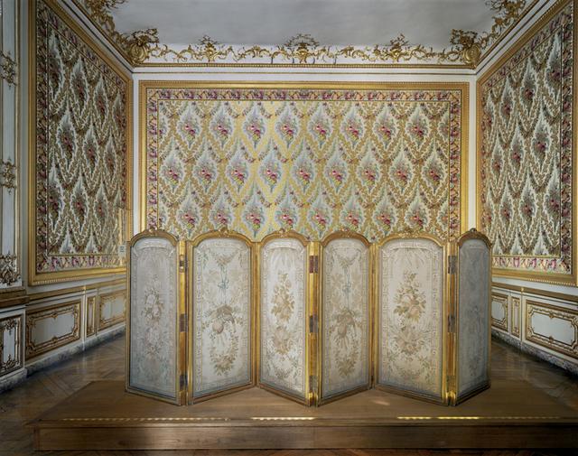 , 'Versailles, 1er Étage, Corps Central, Chambre à Coucher de Louis XV, Paravent Detail,' 2008, Flowers