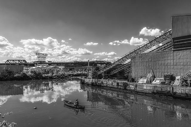 , 'Rower on the Gowanus Canal, Brooklyn,' 2013, AS Artists Studios