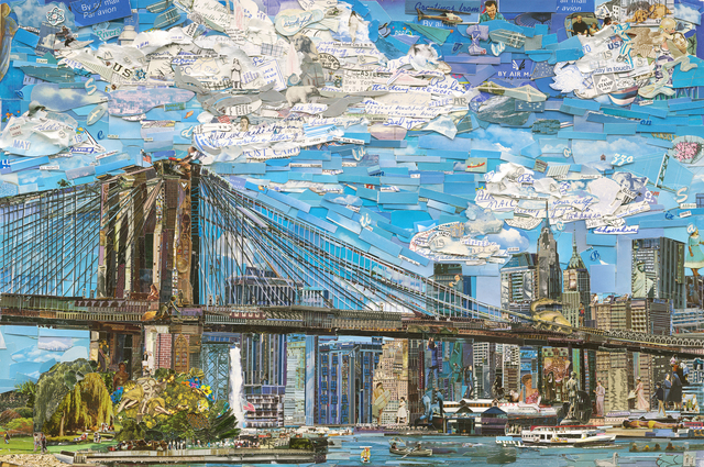 , 'Brooklyn Bridge (Postcards from Nowhere),' 2015, Ben Brown Fine Arts