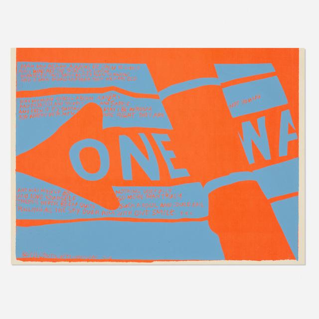 Corita Kent, 'One Way', 1967, Wright
