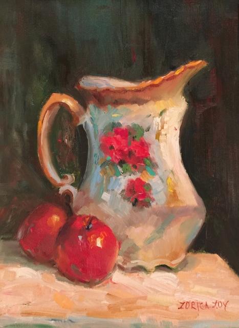 , 'Apples with Ceramic Vase,' , Cosmopolitan Fine Arts