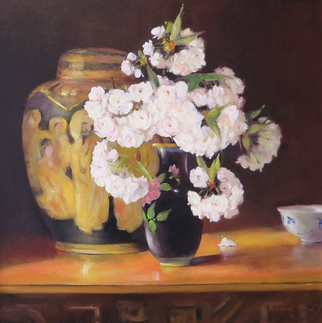 Jacqueline Fowler, 'Satsuma Vase with Blossoms', Wentworth Galleries