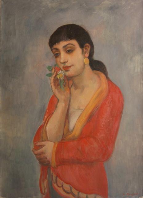 Bernard Karfiol, 'Havana Beauty', ca. 1945, Painting, Oil on Canvas, Forum Gallery