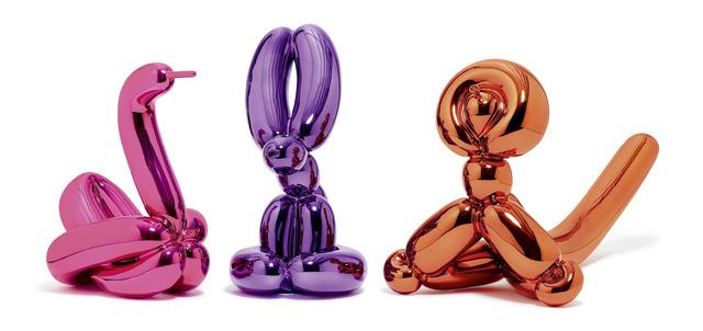 Jeff Koons, 'Animals - Balloon Rabbit (Violet), Balloon Monkey (Orange), Balloon Swan (Magenta', 2019, MK Art Invest Group