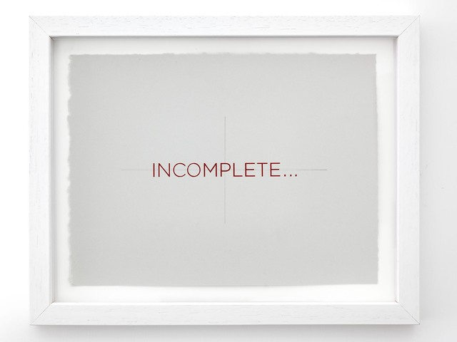 , 'Incomplete,' 2014, Alfonso Artiaco