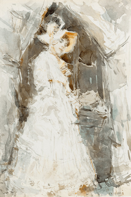 , 'Lady in a White Dress,' ca. 1874-1877, M.S. Rau