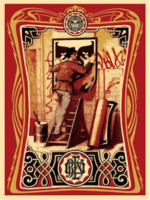Shepard Fairey (OBEY), 'Vintage Paster ', 2006, Gregg Shienbaum Fine Art