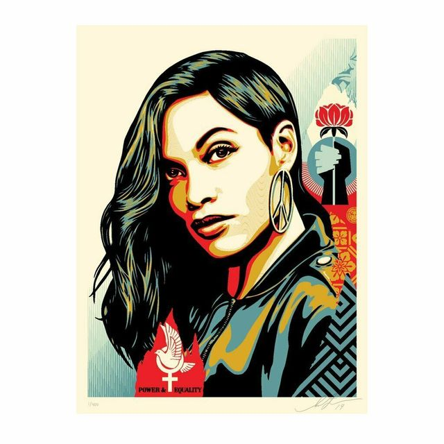 "Shepard Fairey, '""Power & Equality""  Dove & Rosario Dawson ', 2019, New Union Gallery"