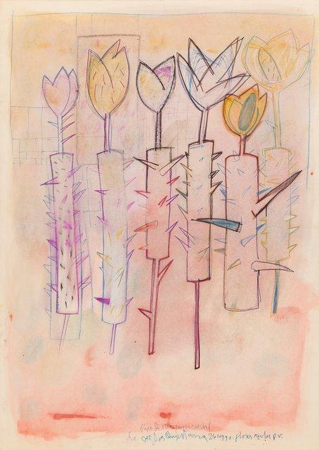 Carlos Quintana, 'Flores Azules', 1990, Heritage Auctions