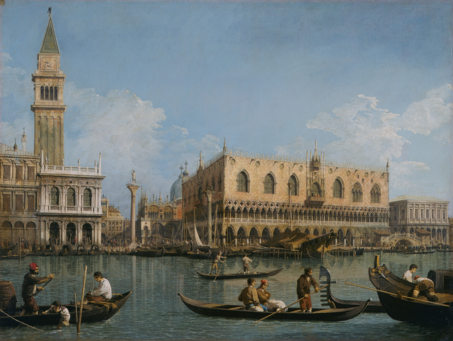 Canaletto, 'View of St. Mark's from the Punta della Dogana', 1740-1745, Pinacoteca di Brera