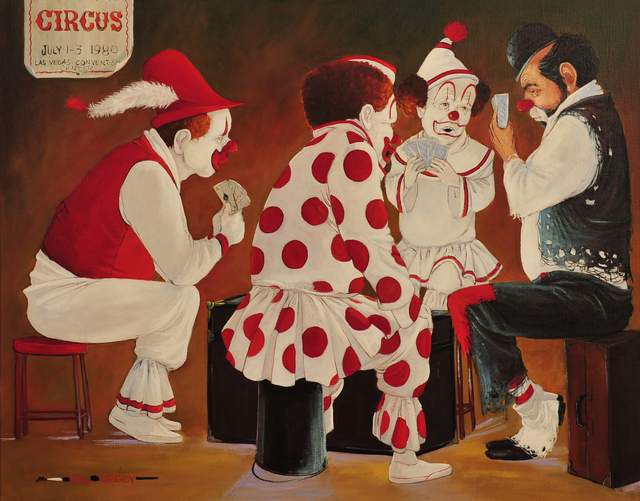 Hal Crecy, 'Hobo & Three Clowns at Poker', The Illustrated Gallery