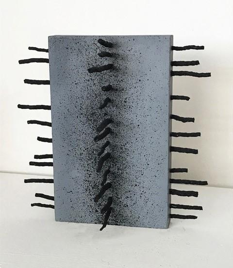 , 'Detritus Monolith Gray,' 2018, Denise Bibro Fine Art