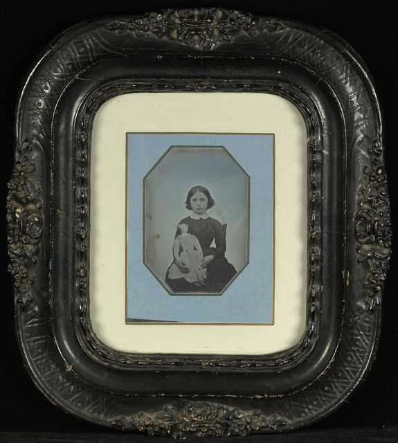 , 'Portrait of a Girl Holding a Doll,' ca. 1845, J. Paul Getty Museum