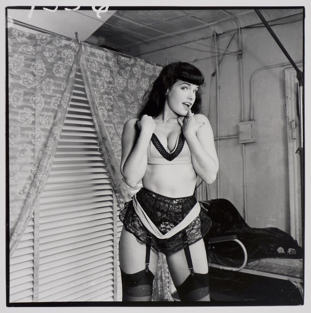 , 'Bettie Page (with lace garter belt, front),' ca. 1955/1980s, Corbett vs. Dempsey