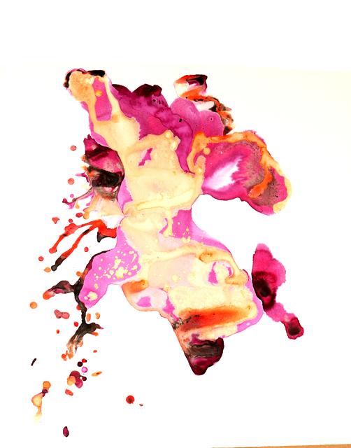Margarita Cabrera, 'El Flujo de Extracciones (Corriente 7)', 2019, Drawing, Collage or other Work on Paper, Mixed-media - Cochineal Gouache on paper, Ruiz-Healy Art