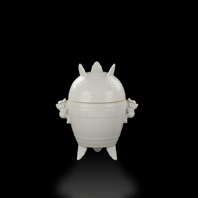 , 'White glazed Xing vessel,' Qianlong mark (1736-1795) under both cover and base, Art Museum of the Chinese University of Hong Kong
