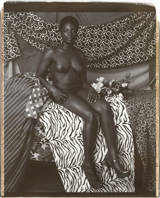 Mickalene Thomas, 'Portrait of Marie Sitting in Black and White', 2012, The Brodsky Center at PAFA