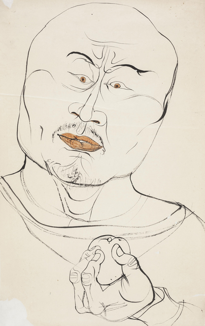 Li Jin 李津, 'Man with a Fruit 线描男子', 1993, Ink Studio