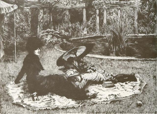 , 'Sur L'Herbe,' 1880, Contessa Gallery