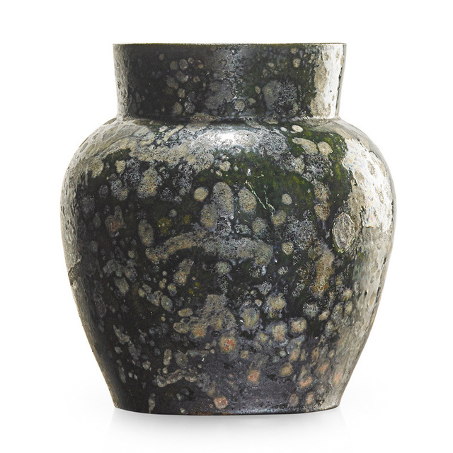 George Ohr, 'Large vase, green and gunmetal blister glaze, Biloxi, MS', 1897-1900, Rago/Wright
