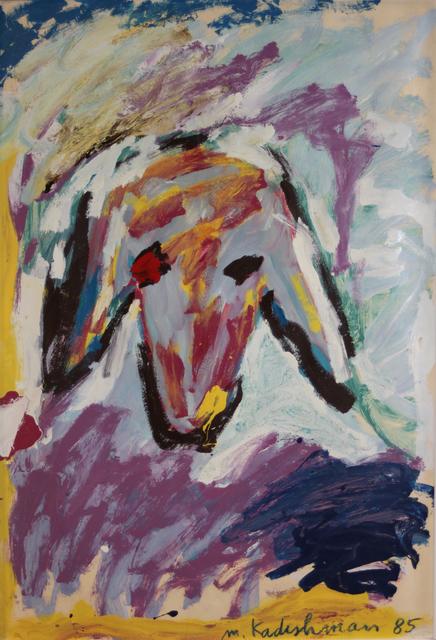 Menashe Kadishman, 'Sheeps Head', 1985, EastCoastArt