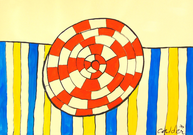 Alexander Calder, 'Wheel and Stripes', 1970, Gilden's Art Gallery