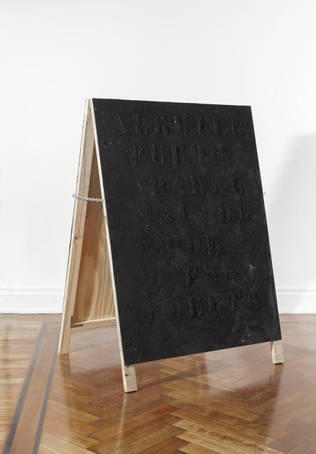 , 'Untitled (Alguien puede haber salido por esa puerta / Seguro seguro no hay nada),' 2015, Cosmocosa