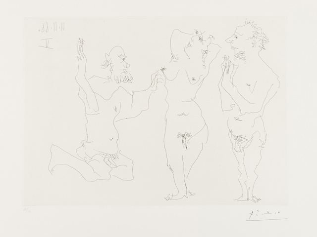 Pablo Picasso, 'Two Old Men Courting Nude (Bloch 1411)', 1966, Forum Auctions