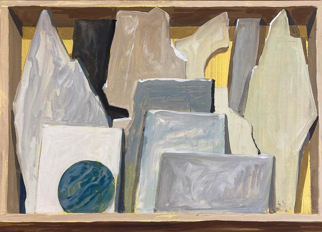 Gloria Martín Montaño, 'Cajón de mármoles II ', 2020, Painting, Oil on paper, Galería Silvestre