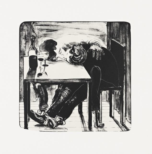 Nicole Eisenman, 'Sloppy Bar room Kiss', 2011, Print, Lithograph, Edition:25, Jungle Press