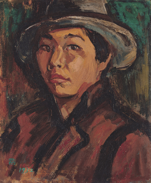 , 'Portrait of the Artist,' 1932, Taipei Fine Arts Museum