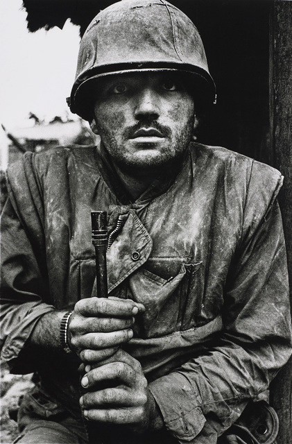 Don McCullin, 'Shell-shocked US Marine, The Battle of Hue', 1968, Photography, Gelatin silver print, printed later., Phillips