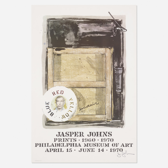 Jasper Johns, 'Souvenir exhibition poster', 1970, Rago/Wright