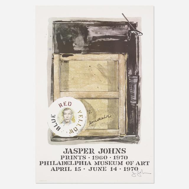 Jasper Johns, 'Souvenir exhibition poster', 1970, Wright