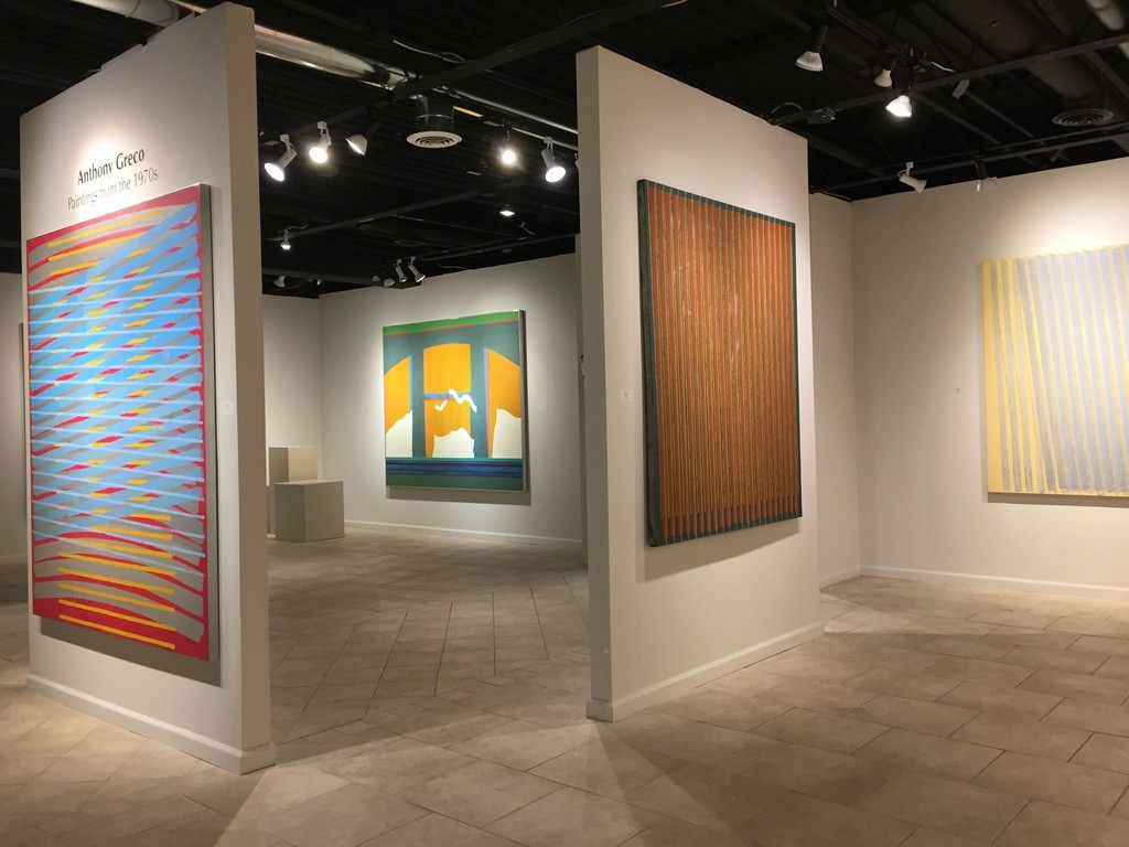 Anthony Greco: Paintings from the 1970s. Left to Right: 314/Three (1974), Curtains#3 (1970), 314/Eight (1975), 314/Nineteen (1977)