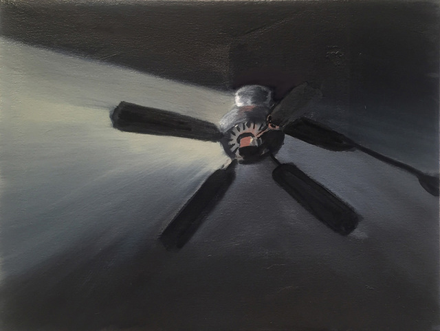 Shirley Irons, 'Second Black Ceiling Fan', 2018, Gallery Luisotti