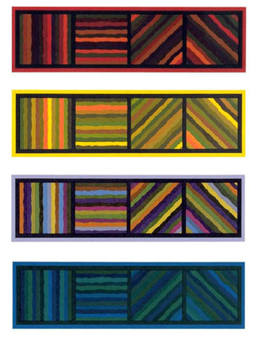 , 'Bands (Not Straight) in Four Directions,' 1999, Brooke Alexander, Inc.