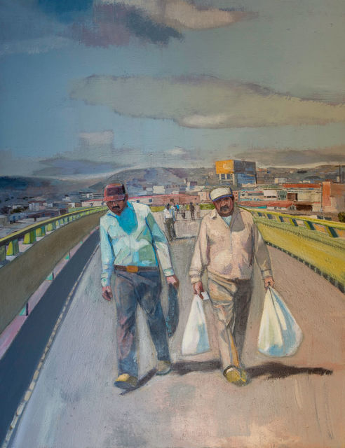 , 'Crossing from Mexico,' 2013, Asher Grey Gallery