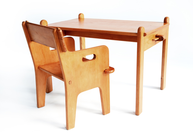 , 'Peter's Chair & Table,' 1944, kinder MODERN