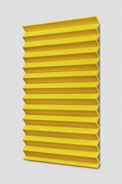 , 'Orgone Therapy (Accordion Fold, Cadmium Yellow),' 2017, Anthony Meier Fine Arts