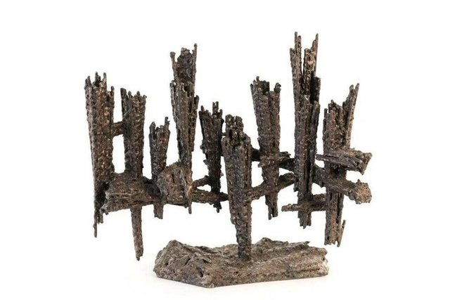 David Palombo, 'Heavy Hand Forged Brutalist Iron Memorial Menorah Sculpture', Mid-20th Century, Sculpture, Iron, Lions Gallery